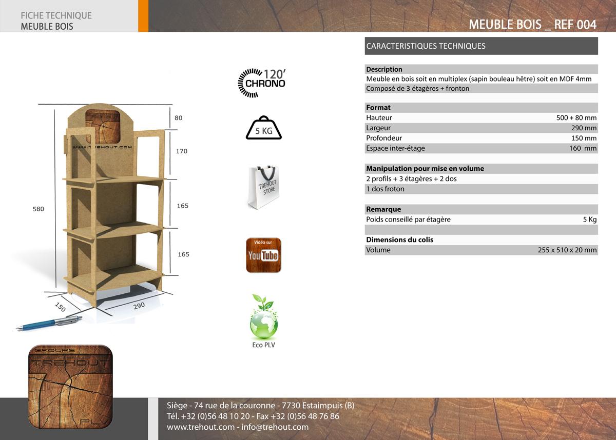 display de comptoir bois plv bois display de comptoir permanent meuble plv bois. Black Bedroom Furniture Sets. Home Design Ideas
