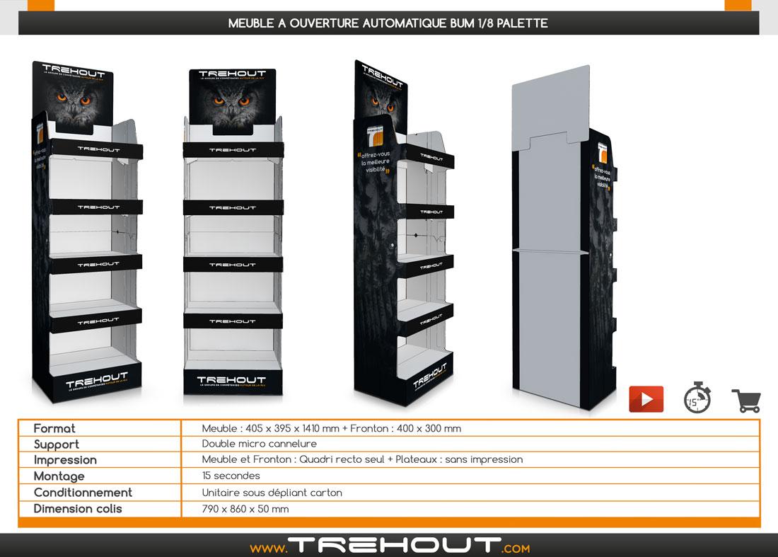 displays automatiques box automatiques meuble 1 8 palette ouverture automatique bum. Black Bedroom Furniture Sets. Home Design Ideas